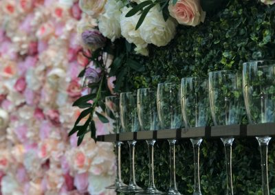 Close up prosecco wall